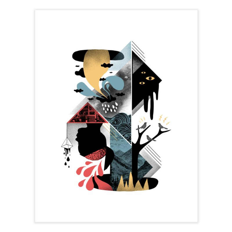 Shapes and Nightmares Home Fine Art Print by ordinary fox