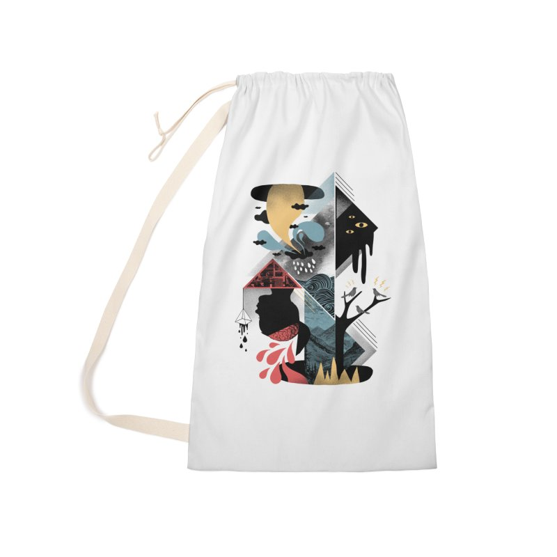 Shapes and Nightmares Accessories Laundry Bag Bag by