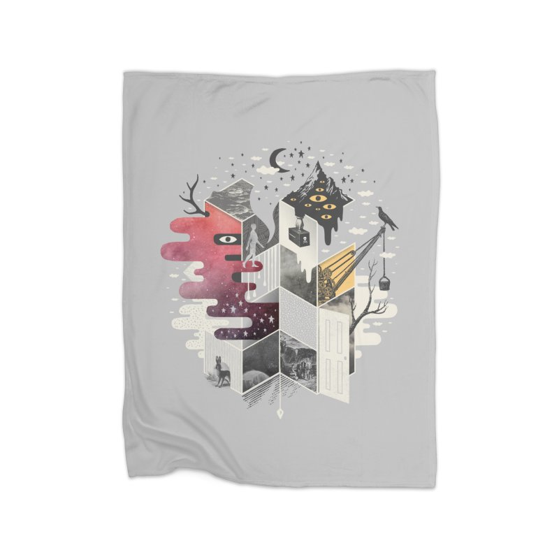 Jung at Heart Home Fleece Blanket Blanket by ordinary fox