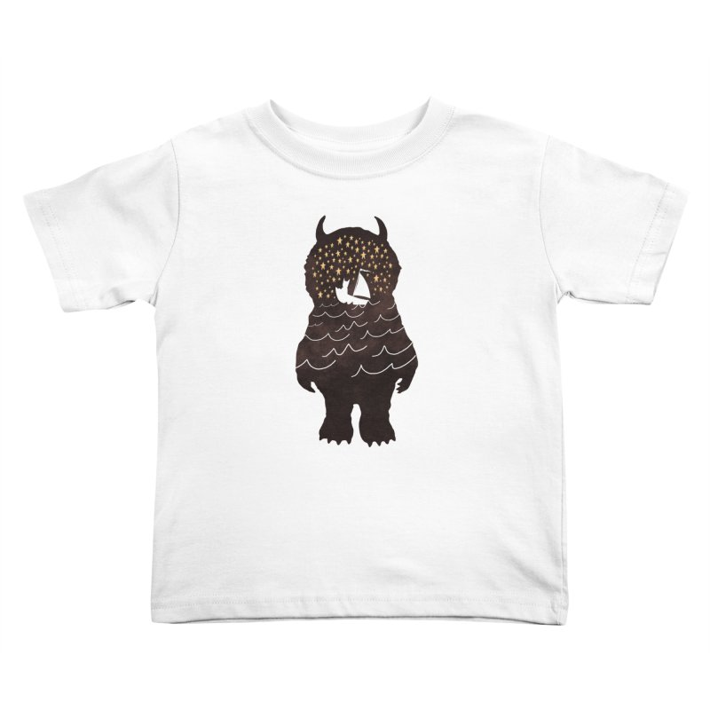 And Into The Night Kids Toddler T-Shirt by ordinary fox