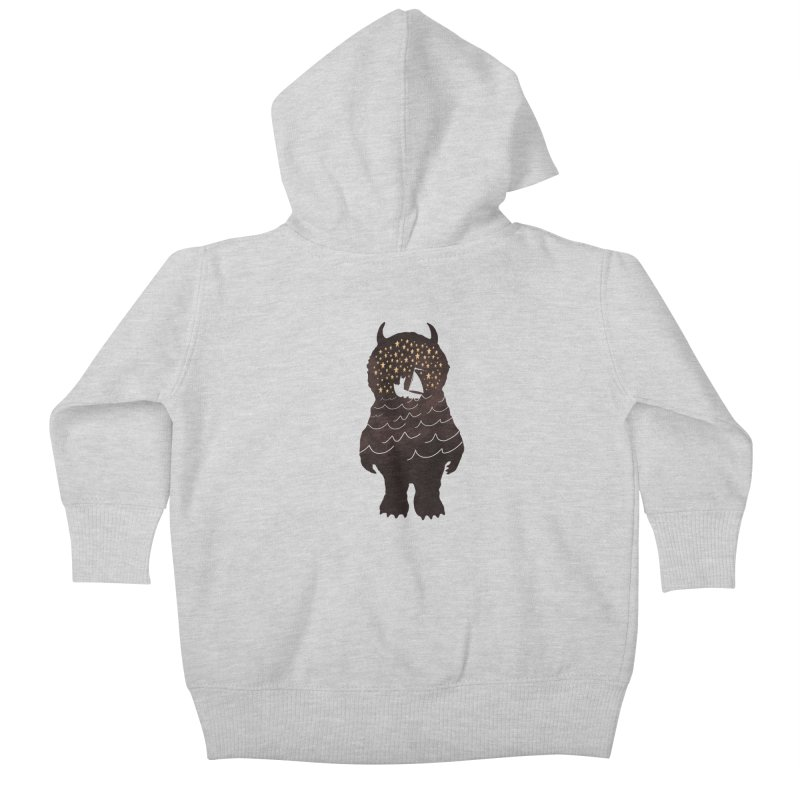 And Into The Night Kids Baby Zip-Up Hoody by ordinary fox