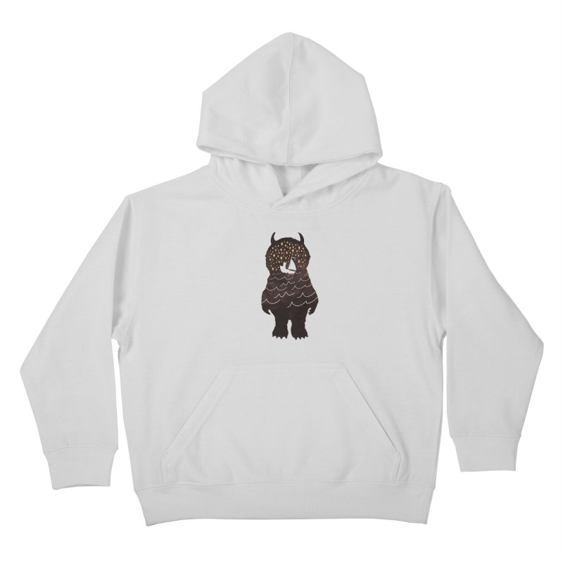And Into The Night Kids Pullover Hoody by ordinary fox