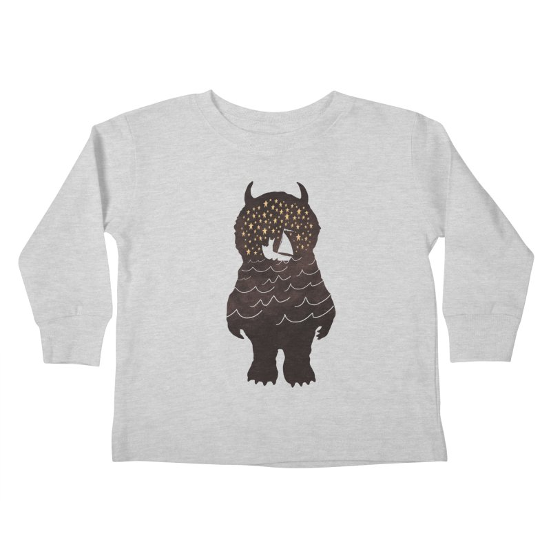 And Into The Night Kids Toddler Longsleeve T-Shirt by ordinary fox