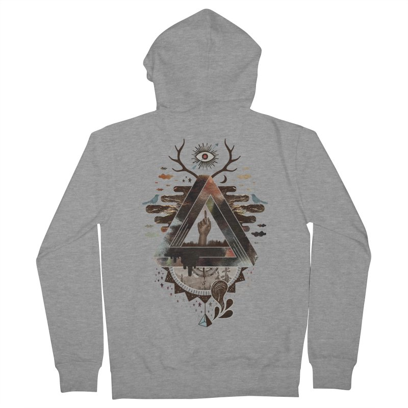 All Impossible Eye Women's French Terry Zip-Up Hoody by ordinary fox