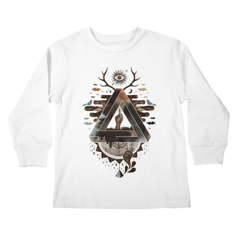 All Impossible Eye Kids Longsleeve T-Shirt by ordinary fox