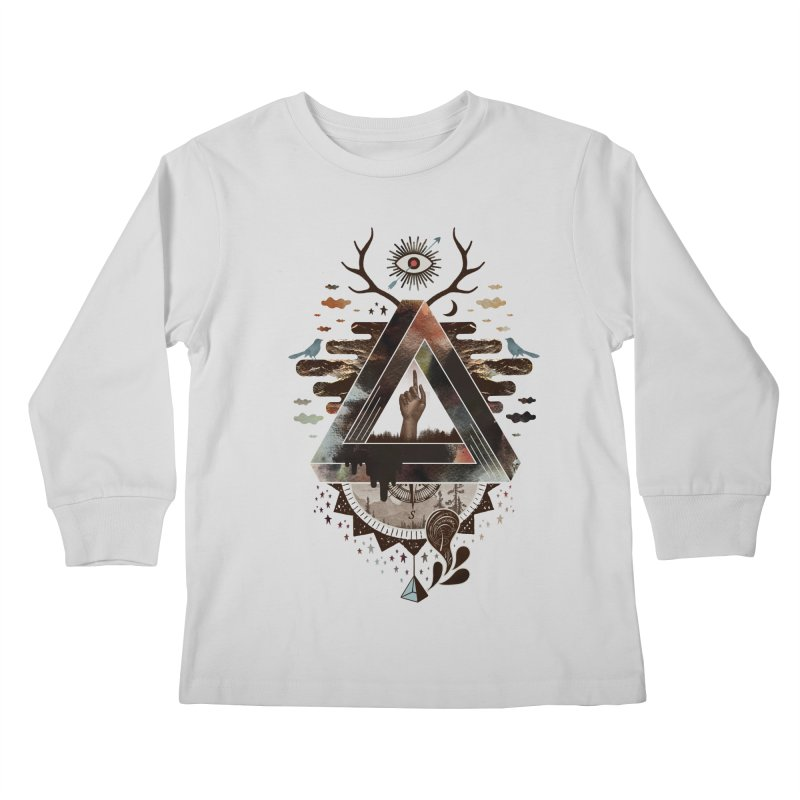All Impossible Eye Kids Longsleeve T-Shirt by ordinary fox