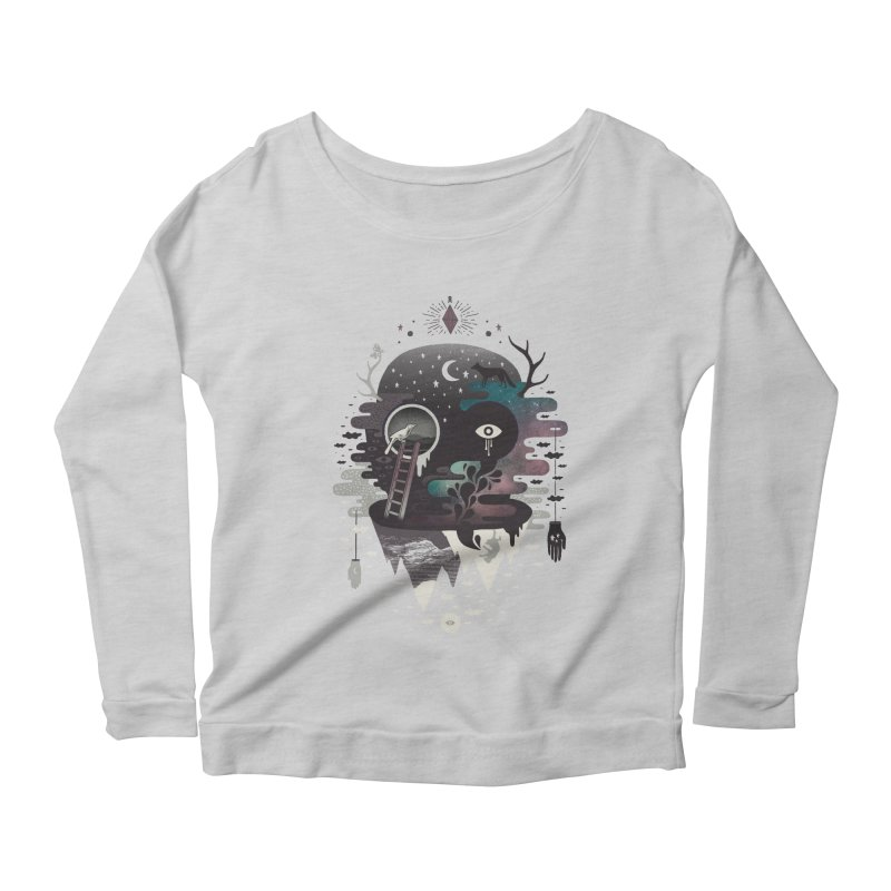 Daemon Women's Scoop Neck Longsleeve T-Shirt by ordinary fox
