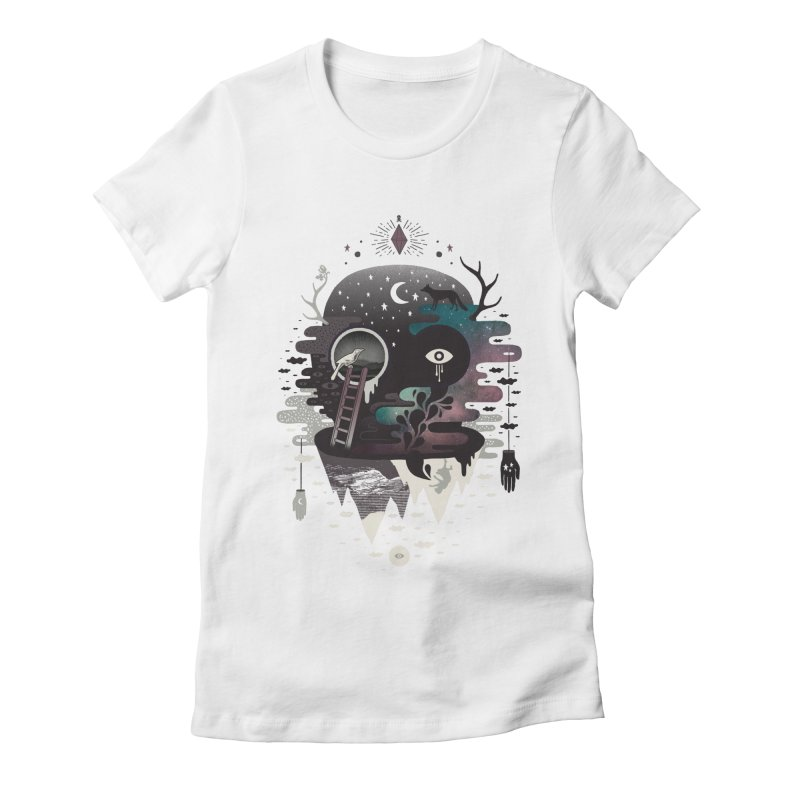 Daemon Women's Fitted T-Shirt by ordinary fox