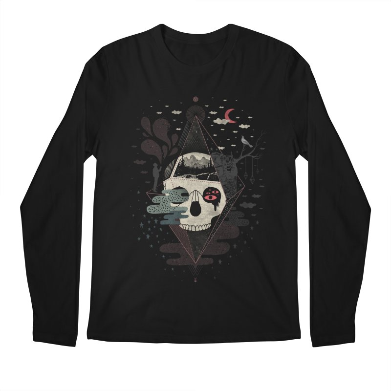 Happy Riddle Men's Regular Longsleeve T-Shirt by ordinary fox