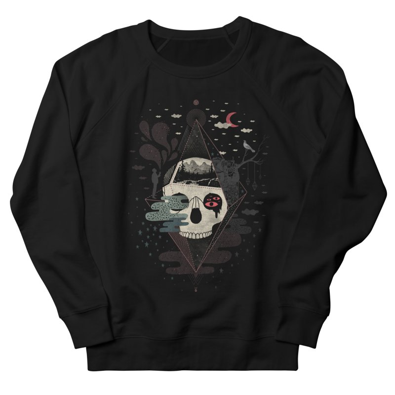 Happy Riddle Men's French Terry Sweatshirt by ordinary fox
