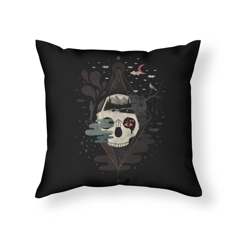Happy Riddle Home Throw Pillow by ordinary fox