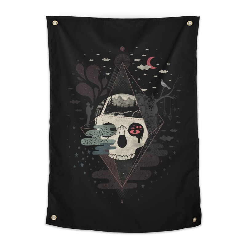 Happy Riddle Home Tapestry by ordinary fox