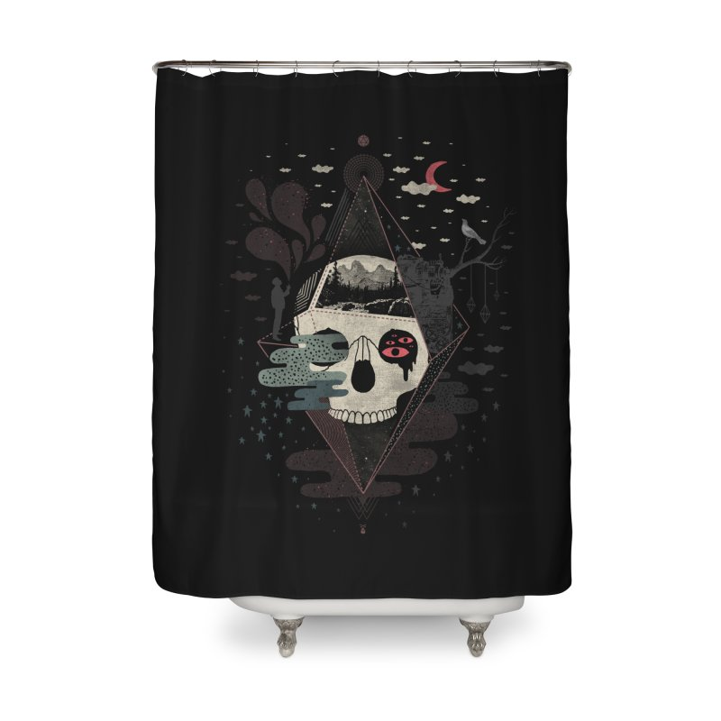 Happy Riddle Home Shower Curtain by ordinary fox