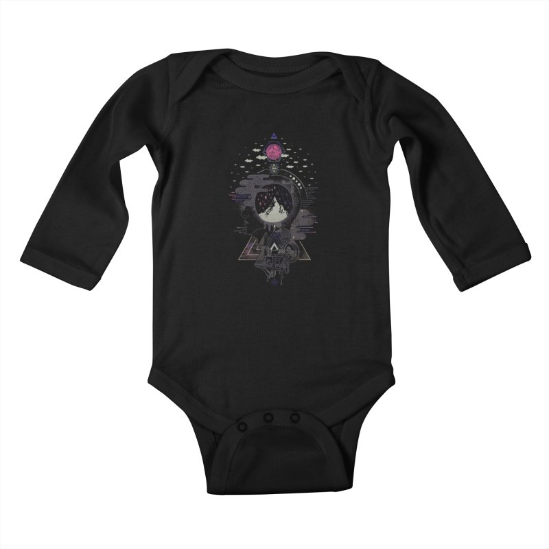 Hyper Dreamer Kids Baby Longsleeve Bodysuit by ordinary fox