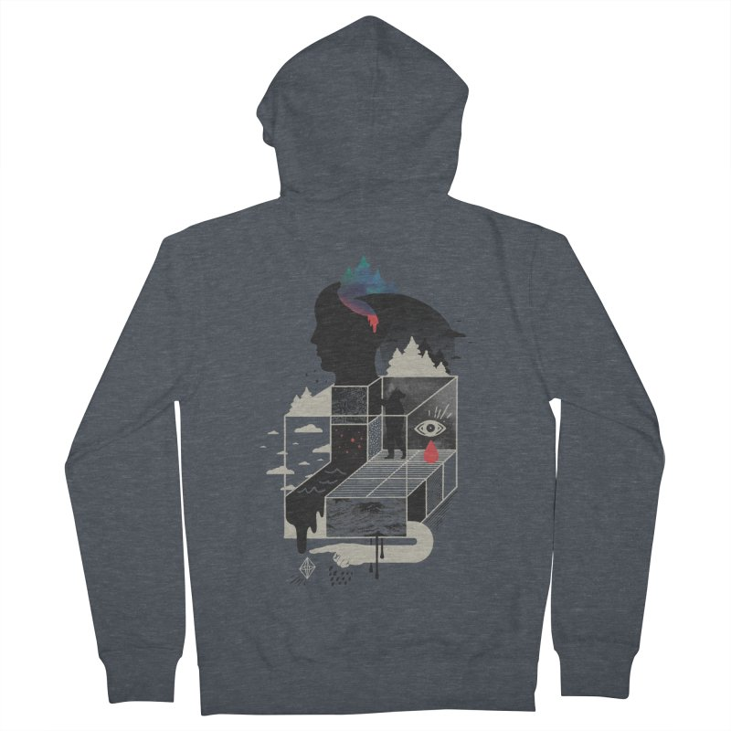 Lucid Screaming Men's French Terry Zip-Up Hoody by ordinary fox