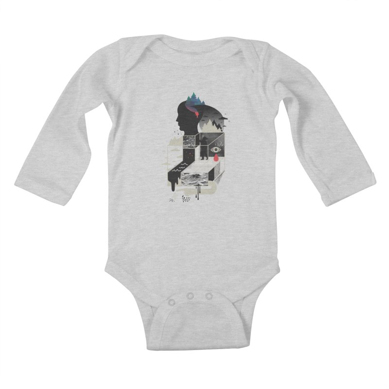 Lucid Screaming Kids Baby Longsleeve Bodysuit by ordinary fox