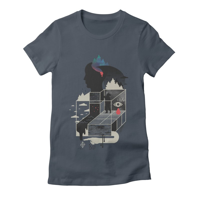 Lucid Screaming Women's Fitted T-Shirt by ordinary fox