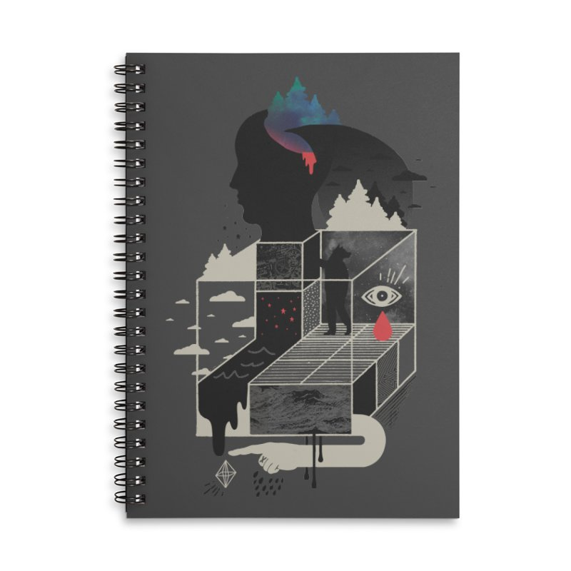 Lucid Screaming Accessories Lined Spiral Notebook by ordinary fox