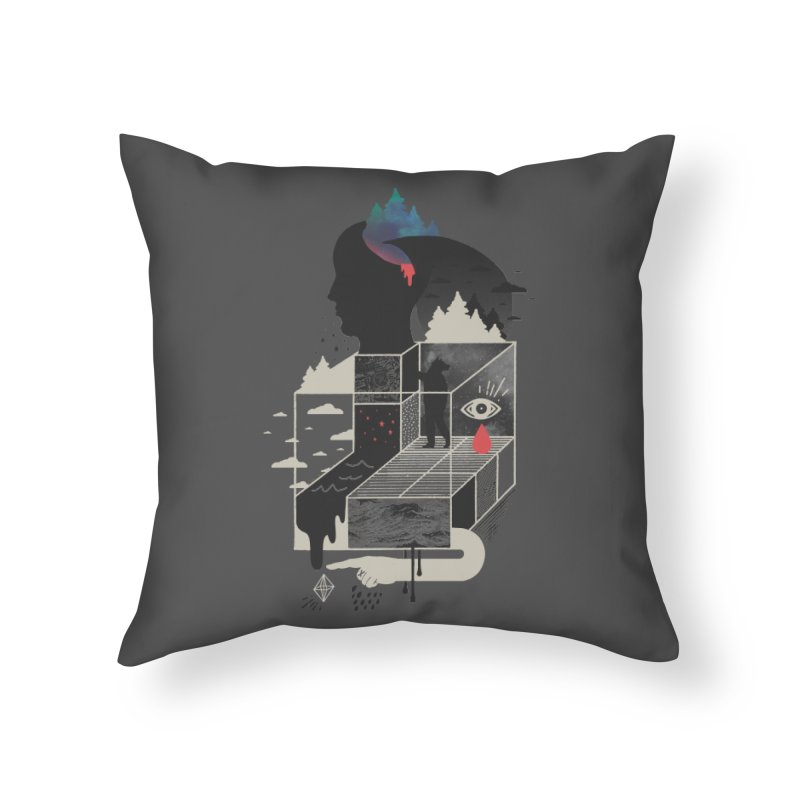 Lucid Screaming Home Throw Pillow by ordinary fox