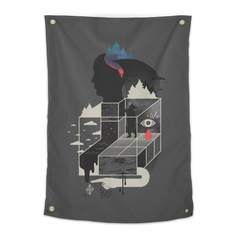 Lucid Screaming Home Tapestry by ordinary fox
