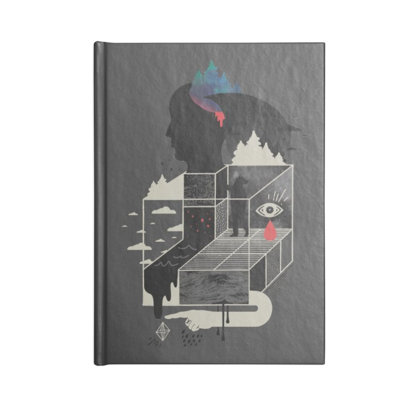Lucid Screaming Accessories Blank Journal Notebook by ordinary fox