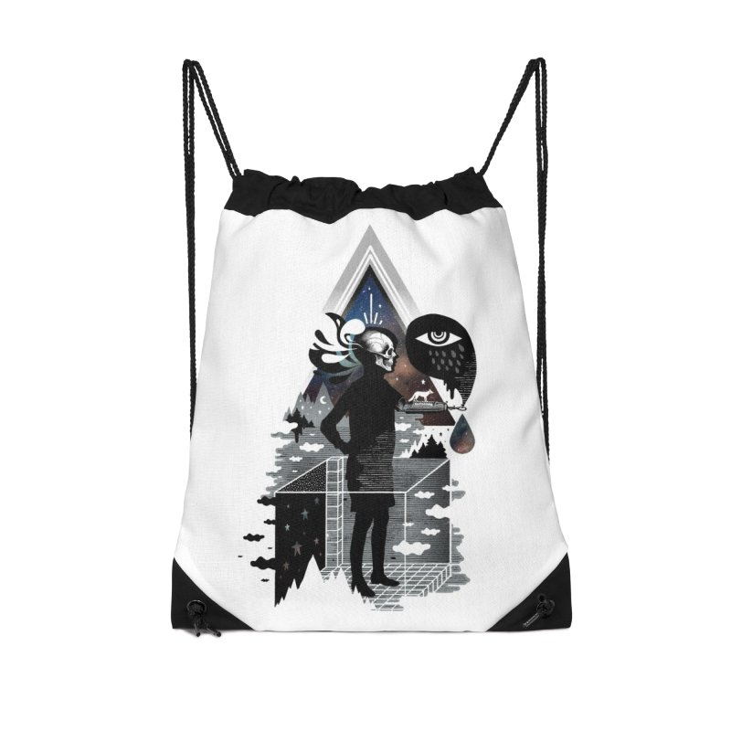 Ghosts Accessories Drawstring Bag Bag by ordinary fox