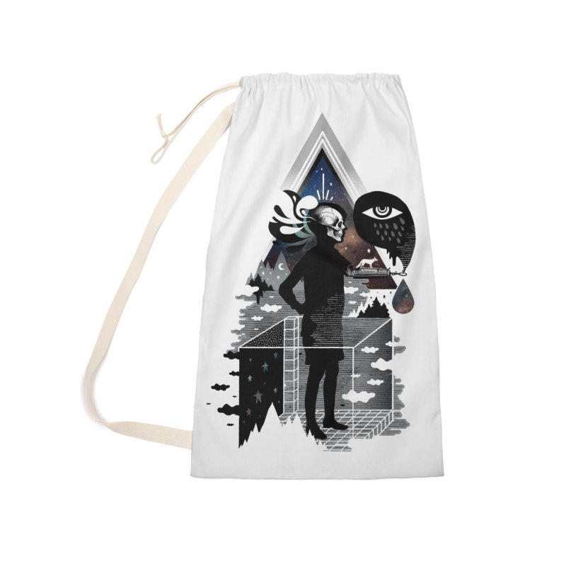 Ghosts Accessories Laundry Bag Bag by ordinary fox