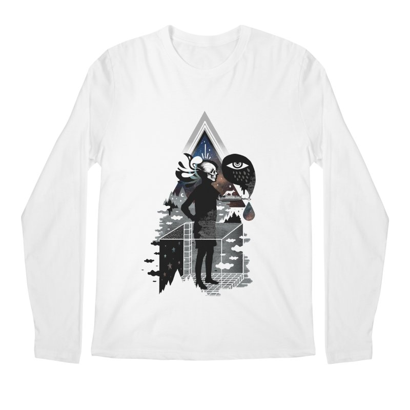 Ghosts Men's Regular Longsleeve T-Shirt by ordinary fox