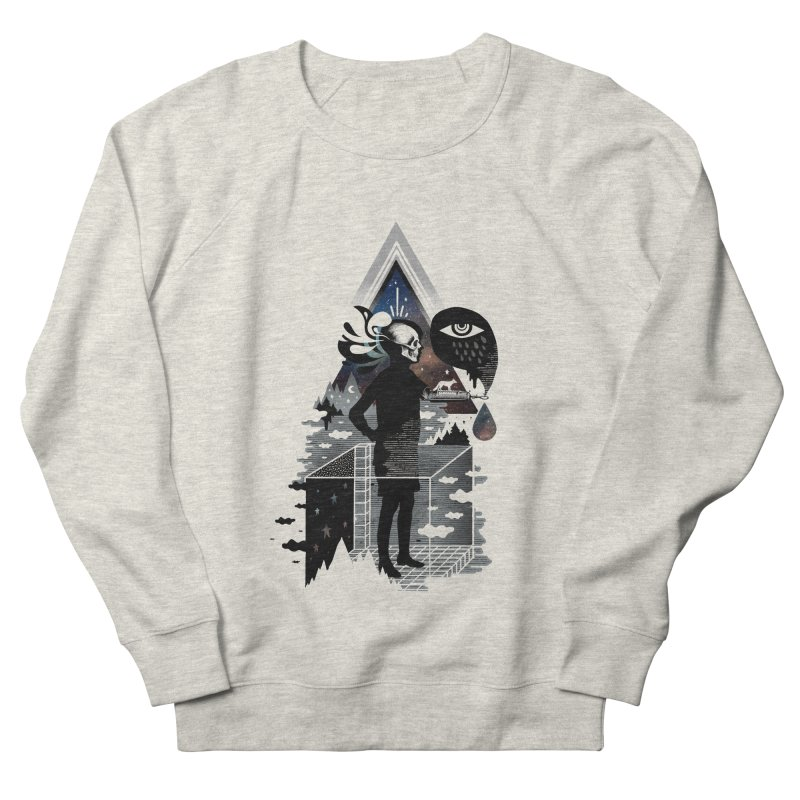 Ghosts Men's French Terry Sweatshirt by ordinary fox
