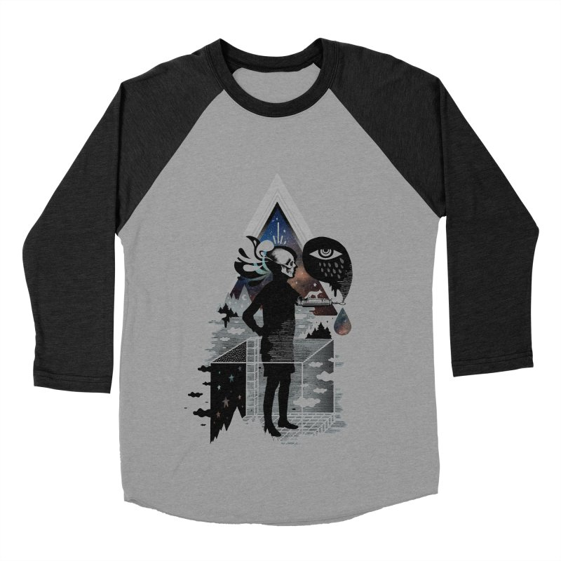 Ghosts Men's Baseball Triblend Longsleeve T-Shirt by ordinary fox