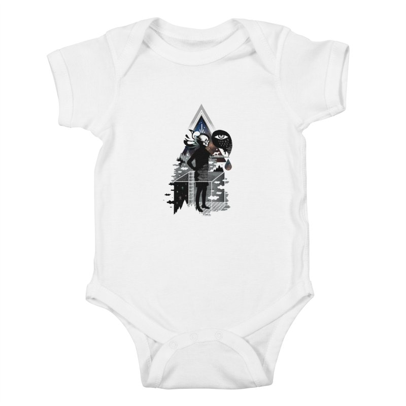 Ghosts Kids Baby Bodysuit by ordinary fox