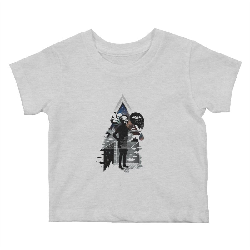 Ghosts Kids Baby T-Shirt by ordinary fox