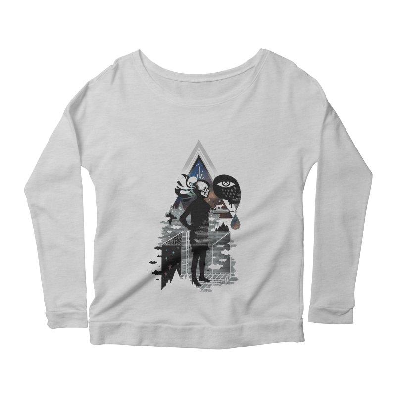 Ghosts Women's Scoop Neck Longsleeve T-Shirt by ordinary fox