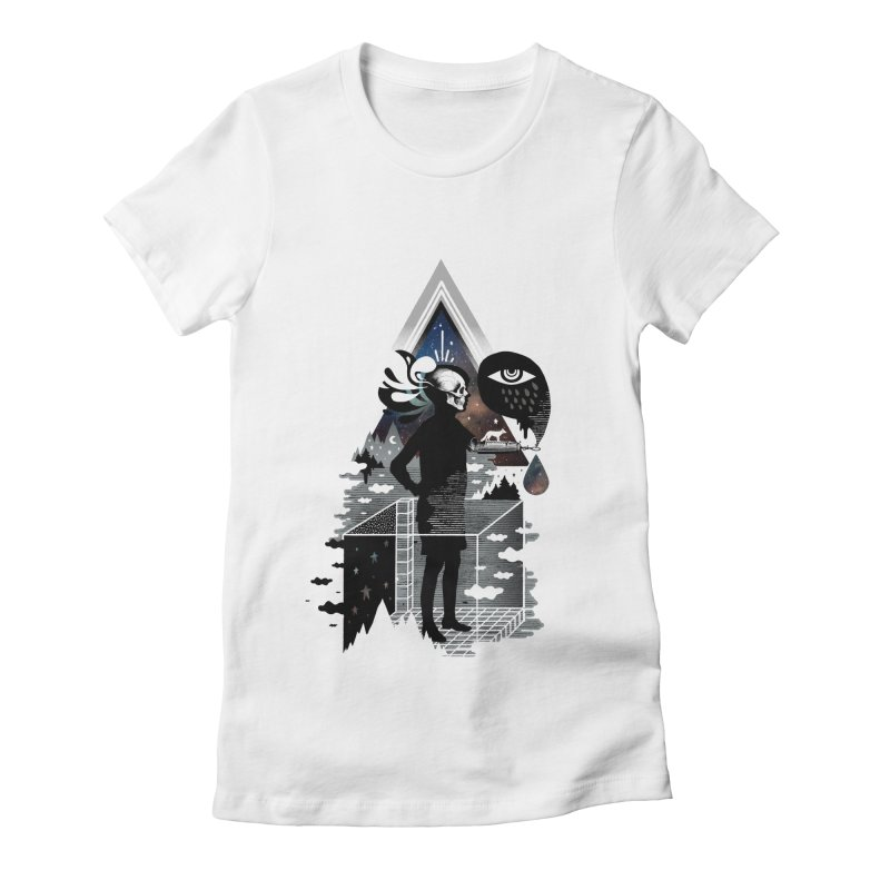 Ghosts Women's Fitted T-Shirt by ordinary fox
