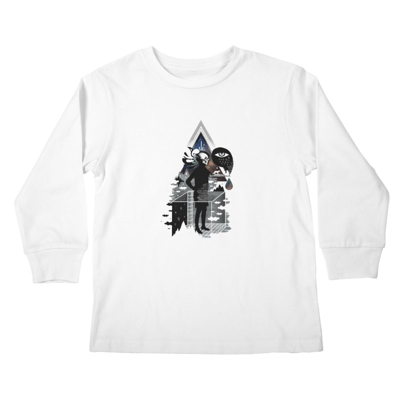 Ghosts Kids Longsleeve T-Shirt by ordinary fox