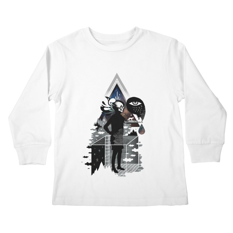 Ghosts Kids Longsleeve T-Shirt by ordinary fox