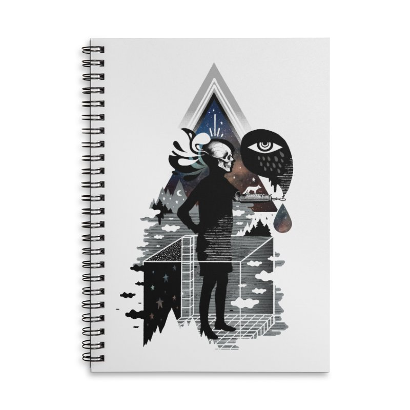 Ghosts Accessories Lined Spiral Notebook by ordinary fox