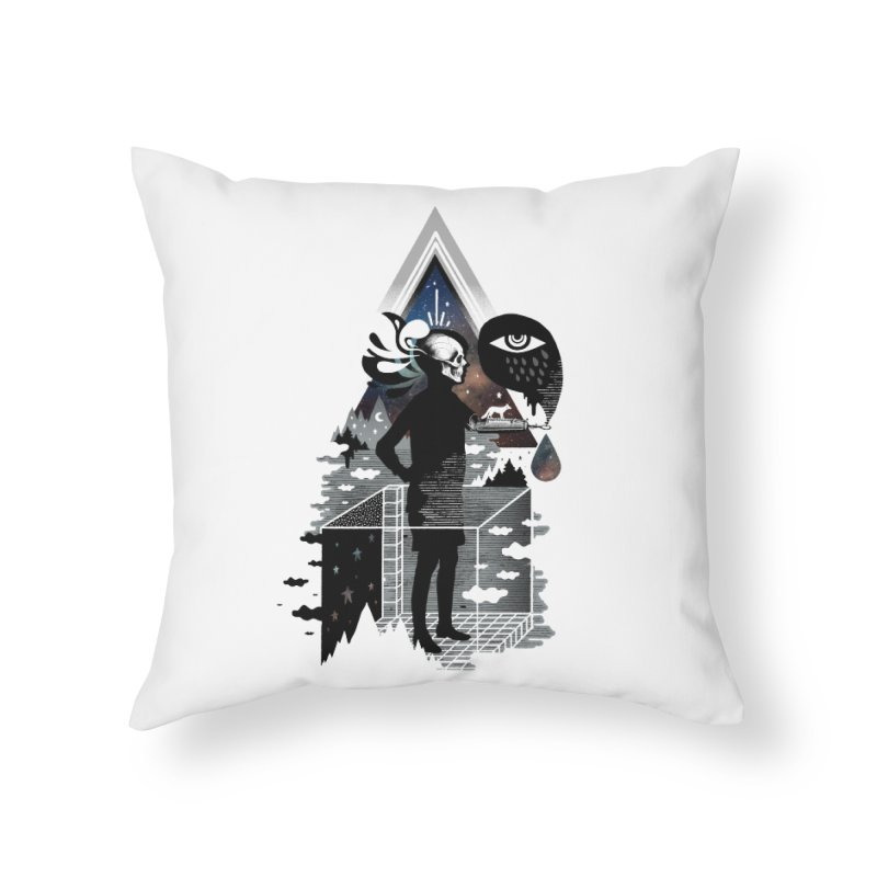 Ghosts Home Throw Pillow by ordinary fox