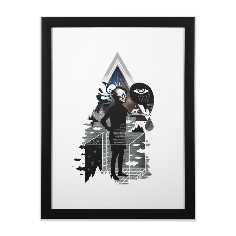 Ghosts Home Framed Fine Art Print by ordinary fox