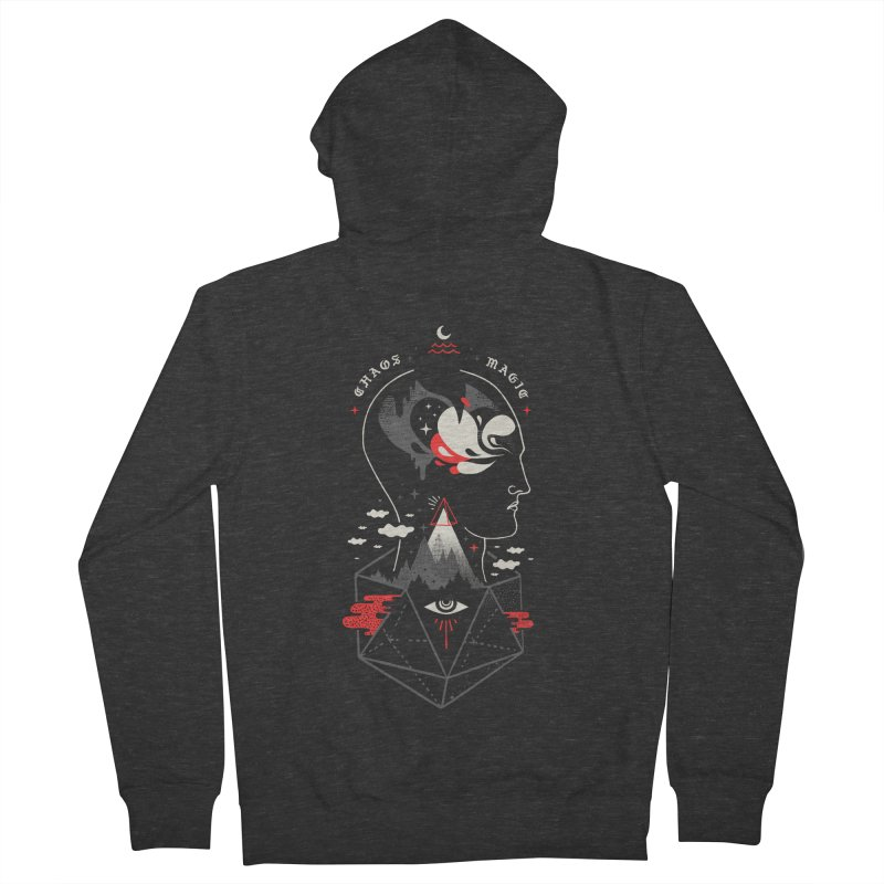 Chaos Magic Men's French Terry Zip-Up Hoody by ordinary fox