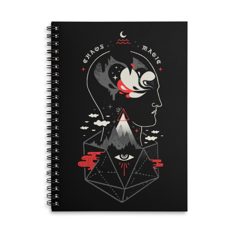 Chaos Magic Accessories Lined Spiral Notebook by ordinary fox