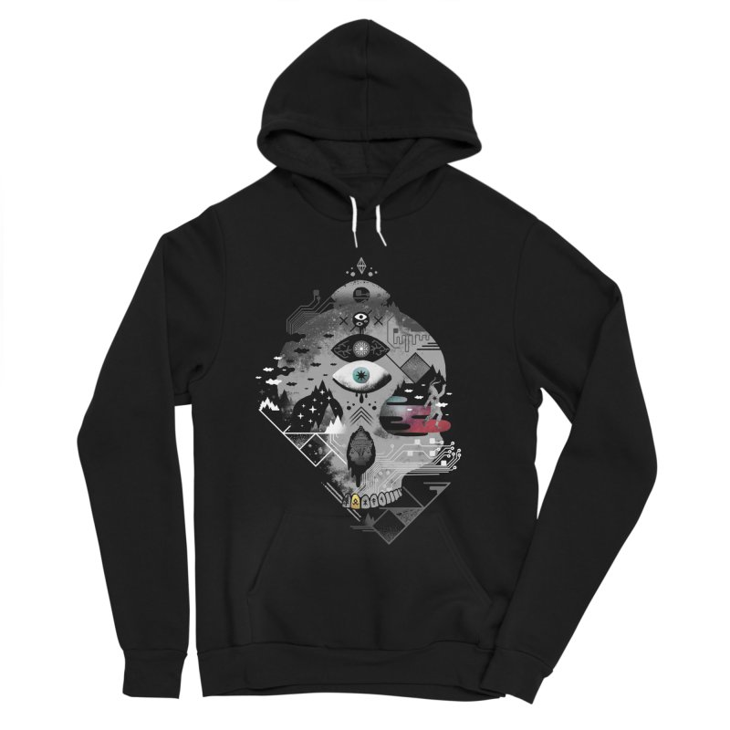 Old Gods, New Demons Men's Sponge Fleece Pullover Hoody by ordinary fox