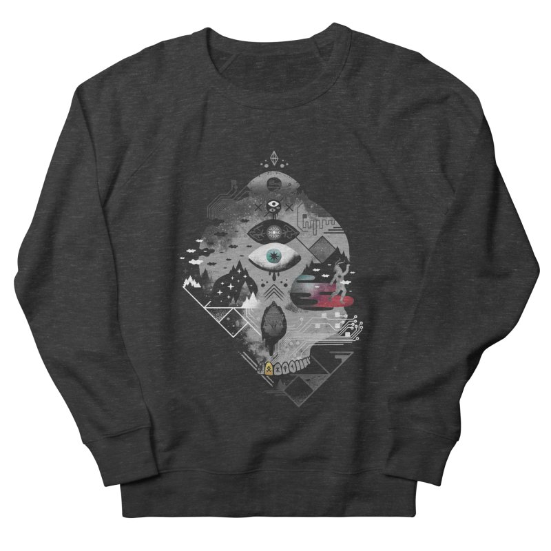 Old Gods, New Demons Men's French Terry Sweatshirt by ordinary fox