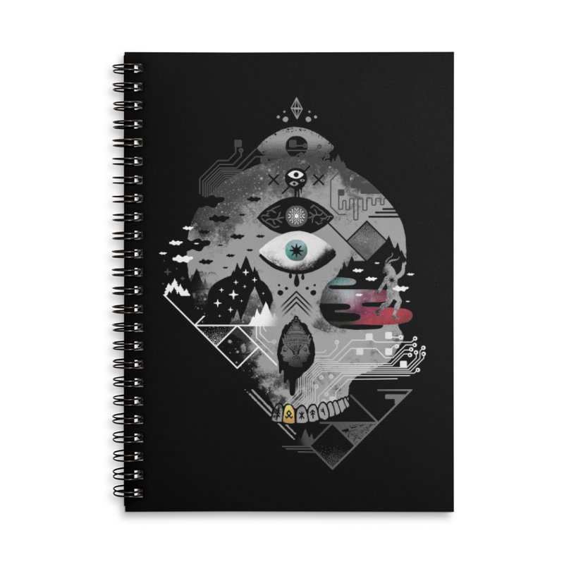 Old Gods, New Demons Accessories Lined Spiral Notebook by ordinary fox