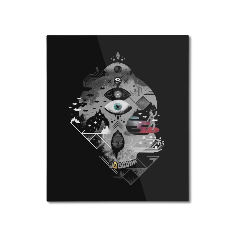 Old Gods, New Demons Home Mounted Aluminum Print by