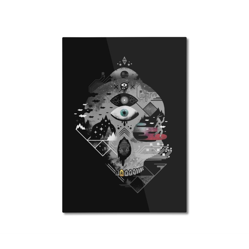 Old Gods, New Demons Home Mounted Aluminum Print by ordinaryfox