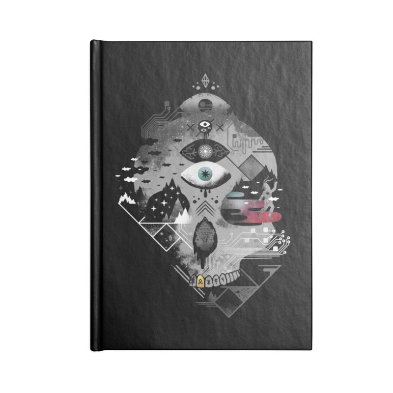 Old Gods, New Demons Accessories Lined Journal Notebook by ordinary fox