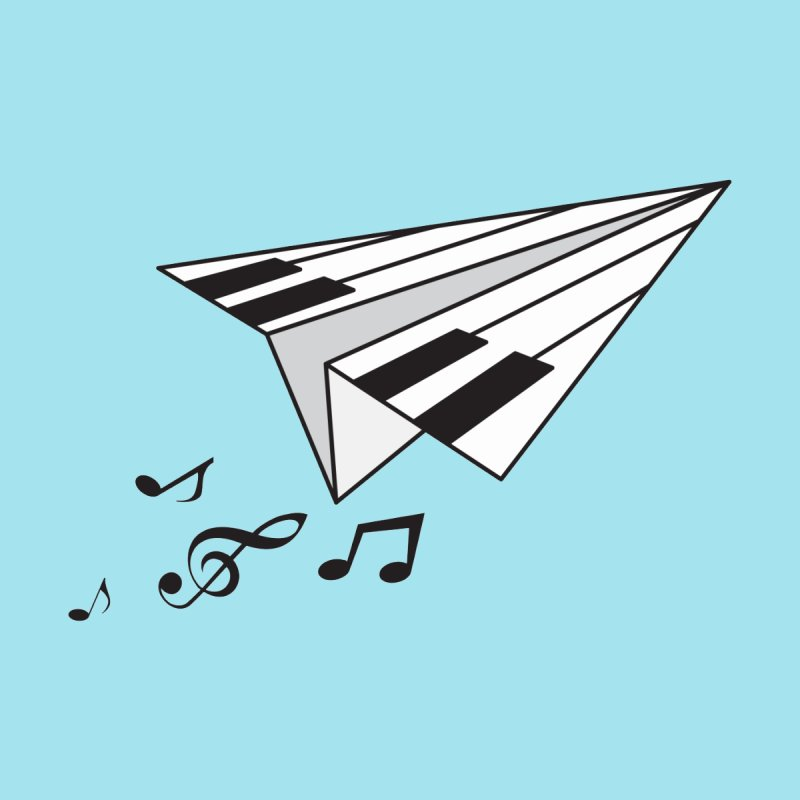 Flying Piano by origami's Artist Shop