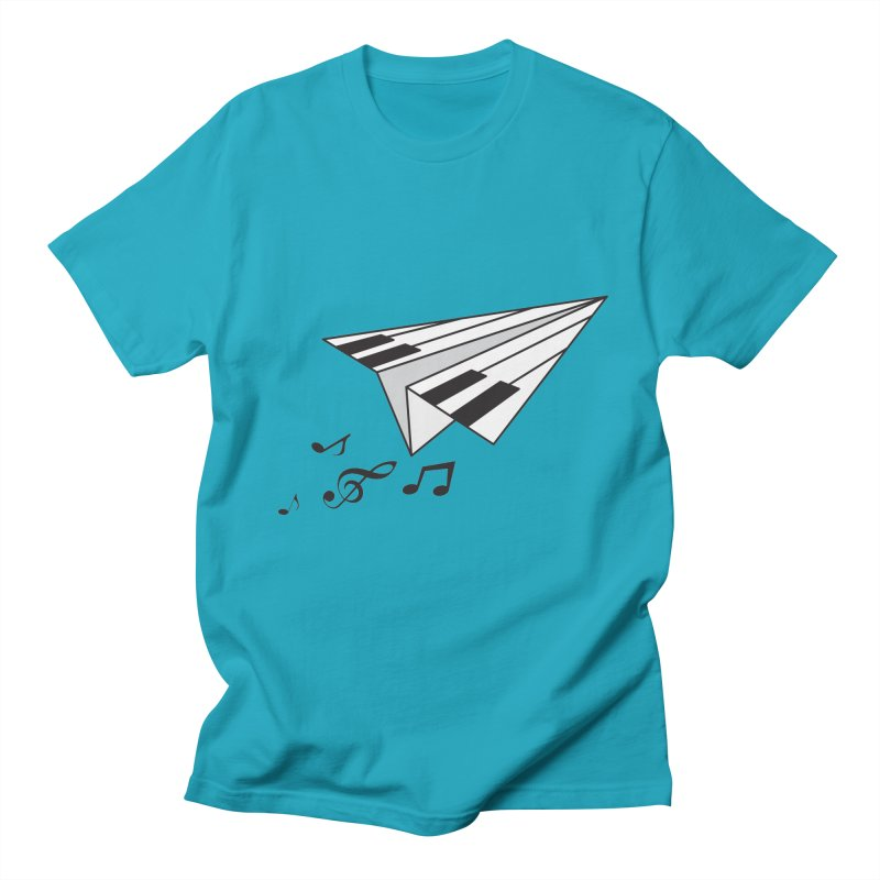 Flying Piano Men's T-Shirt by ORIGAMI