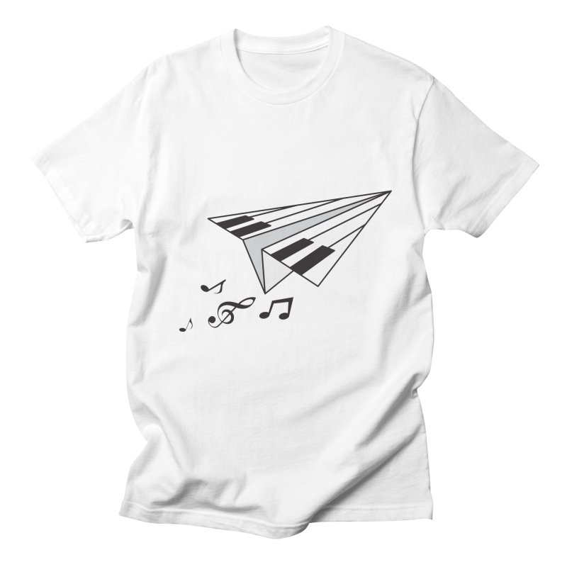 Flying Piano Men's T-shirt by origami's Artist Shop